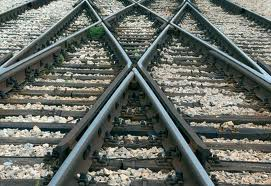 rail tracks with multiple points