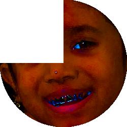 Girl's face in 45-minute pie