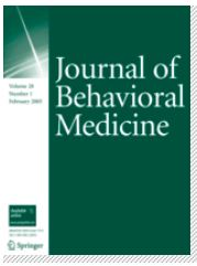 Cover of Journal of Behavioral Medicine