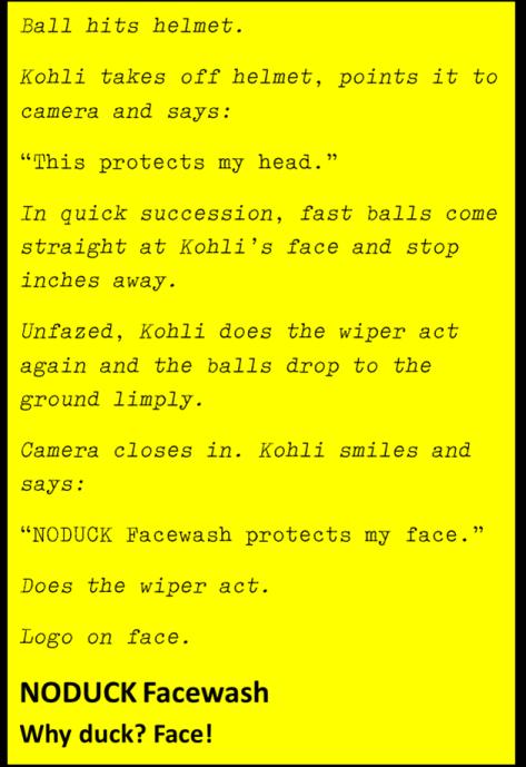 Script of imaginary Kohli ad