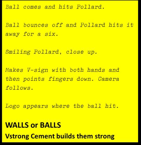 Script of imaginary Pollard ad