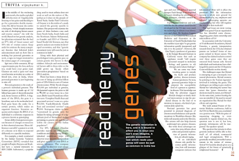 Image of article published in By The Way magazine June 2013.
