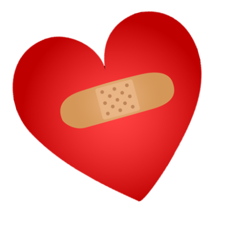 Bandaged red heart