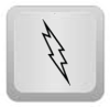 Lightning icon on button